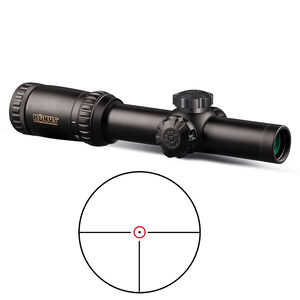 KonusPro M-30 1-6x24 Riflescope Circle Dot Illuminated Reticle 1/2 MOA Adjustments 30mm Tube Diameter Second Focal Plane Matte Black Finish