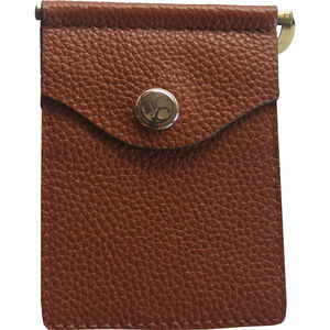 Concealed Carrie Compact Wallet RFID Protected Leather Aged Brown