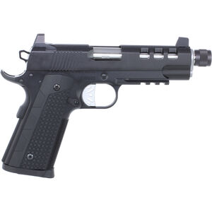 "Dan Wesson Discretion Commander 1911 9mm Luger Semi Auto Pistol 5"" Threaded Barrel 10 Rounds Suppressor Height Night Sights G10 Grips Black"