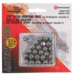 "Marksman Hunting Shot For Sling Shots 3/8"" Steel 75 Count"
