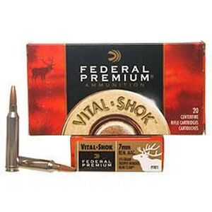 Federal Trophy Bonded Bear Claw 7mm Rem Mag Ammunition 20 Rounds 175 Grain HP