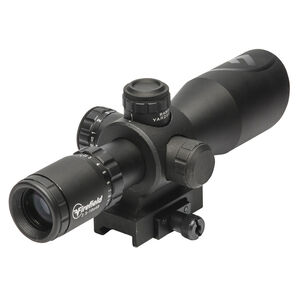 Firefield Barrage 2.5-10x40 Rifle Scope Illuminated Mil-Dot Reticle 1/2 MOA Second Focal Plane CR2032 Battery Integral Weaver-Style Mount Matte Black Finish
