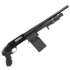 "Adaptive Tactical Maverick 88 Security Pump Action Shotgun 12 Gauge 18.5"" Barrel 2.75"" Chamber 5 Round Sidewinder Venom Box Magazine Pistol Grip Black Finish AT-00101"