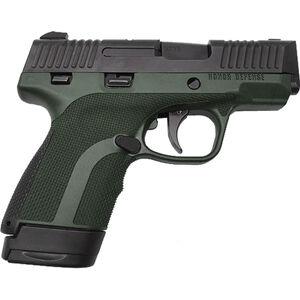 "Honor Guard Sub-Compact 9mm Luger Semi Auto Pistol 3.2"" Barrel 7 Rounds Two Tone Black/Green"