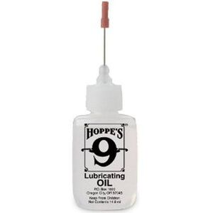 Hoppe's #9 Precision Applicator Tip High Viscosity Lubricating Gun Oil Squeeze Bottle .5 Ounce/14.9mL Bottle