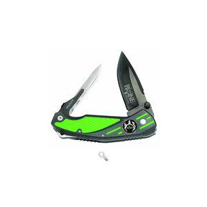 Havalon Knives Bone Collector Signature Series Rebel 2 Bladed Pocket Knife Green and Matte Black Handle
