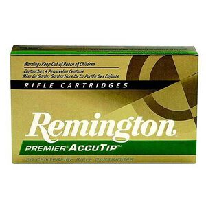 Remington Premier AccuTip-V .204 Ruger Ammunition 20 Rounds AccuTip 32 Grains 29218