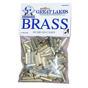 Great Lakes Firearms and Ammunition .357 Magnum New Unprimed Brass 100 Pack B687474