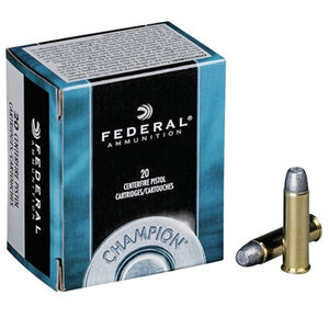 Federal Champion .32 H&R Magnum Ammunition 20 Rounds 95 Grain Lead Semi-Wadcutter Hollow Point Projectile 1030fps