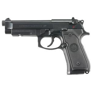 "Beretta M9A1 Semi Automatic Pistol 9mm Luger 4.9"" Barrel 10 Rounds 3 Dot Sights Picatinny Accessory Rail Bruniton Finish Matte Black"