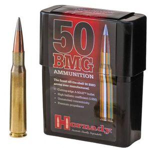 Hornady Match .50 BMG Ammunition 10 Rounds A-Max BT 750 Grains 8270