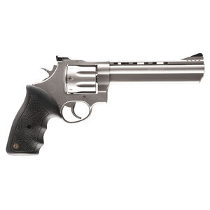 """Taurus 608 Double Action Revolver .357 Magnum 6.5"""" Ported Barrel 8 Rounds Fixed Front Sight/Adjustable Rear Sight Soft Rubber Grip Matte Stainless Steel Finish"""
