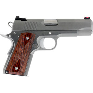 """Dan Wesson 1911 Pointman Carry PM-C .38 Super Semi Auto Pistol 4.25"""" Barrel 8 Rounds DW CCO Profile FO Front Sight Wood Grips Brushed Stainless Finish"""