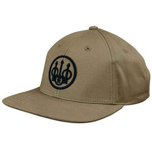 Beretta Cotton Twill Ball Cap Flat Bill OSFM Khaki