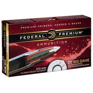 Federal Premium Nosler .270 Winchester Ammunition 20 Rounds 140 Grain Nosler Accubond 2950fps