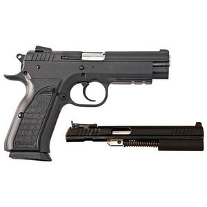 "EAA Witness Semi Auto Handgun .45 ACP and .22 Long Rifle 4.5"" Barrel 10 Rounds Black Rubber Grips Black Finish 999119"