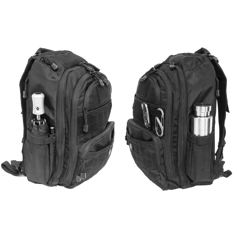 "Leapers UTG Overbound Pack Tactical Backpack 12""x6""x18"" MOLLE Compatible 1200 Denier Fabric Black"