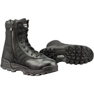 "Original S.W.A.T. Classic 9"" Side Zip Men's Boot Size 8 Wide Non-Marking Sole Leather/Nylon Black 115201W-8"
