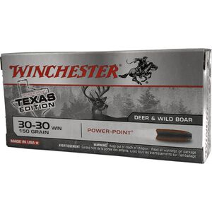 Winchester Super X .30-30 Winchester Ammunition 20 Rounds Texas Edition Power Point 150 Grains