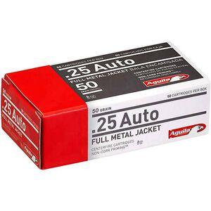Aguila .25 ACP 50 Grain FMJ 50 Round Box