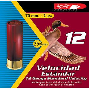 """Aguila 12 Gauge Ammunition 250 Shells, 1 1/8 Ounce, #8 Lead, 2 3/4"""""""