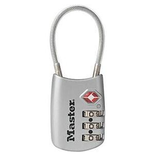 MasterLock Flexible Shackle Combination Lock, Assorted Blue/Red/Silver/Black