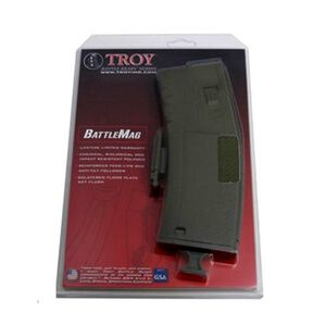Troy Industries BattleMag AR-15 Magazine .223/5.56 30 Rounds Polymer OD Green SMAG-SIN-00GT-00