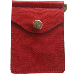 Concealed Carrie Compact Wallet RFID Protected Leather Red