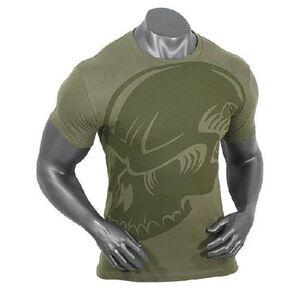Voodoo Tactical Men's Short Sleeve Subdued Skull Tee Shirt Cotton XL OD Green
