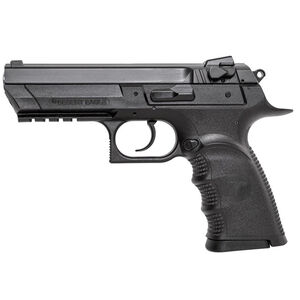 "Magnum Research Baby Desert Eagle III Full Size Semi Auto Pistol 9mm Luger 4.43"" Barrel 10 Rounds Combat 3 Dot Fixed Sights Polymer Frame Matte Black Finish"