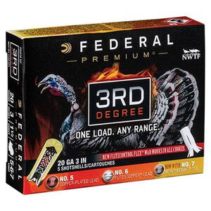 "Federal 3rd Degree 20 Gauge Ammunition 5 Rounds 3"" #5/6/7 Mixed Pellet Three Stage Payload 1-7/16 Ounce 1100fps"