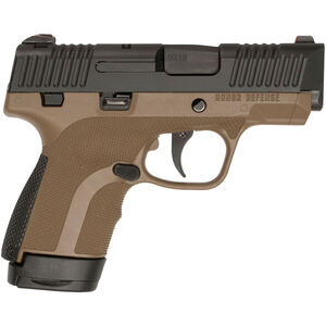 """Honor Guard Sub-Compact 9mm Luger Semi Auto Pistol 3.2"""" Barrel 7 Rounds Manual Safety Polymer FDE"""