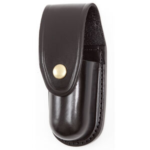 Gould & Goodrich Mk III Chemical Agent Pouch Leather Brass Snap Plain Black B681-3BR
