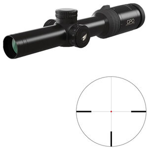 GPO Passion 6x 1-6x24 Riflescope German #4 Illuminated Reticle 30mm Tube .36 inch Adjustment Fixed Parallax Second Focal Plane Black