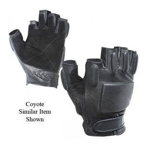 Voodoo Tactical Rapid Rappel Half Finger Gloves Large Coyote