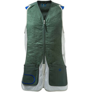 Beretta USA DT11 Shooting Vest Cotton and Mesh Panels 2X-Large Green/Silver