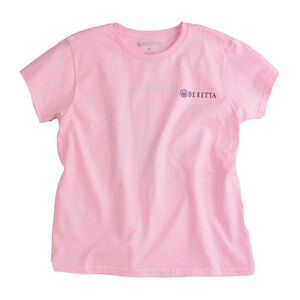 Beretta Women's Trident Logo Short Sleeve T-Shirt Size Large Cotton Pink