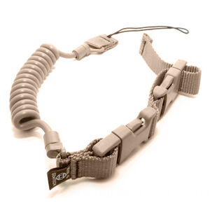 Gemtech Tactical Retention Lanyard Coil Cord Adjustable Nylon/Polypropylene Coyote Brown TRL-CB