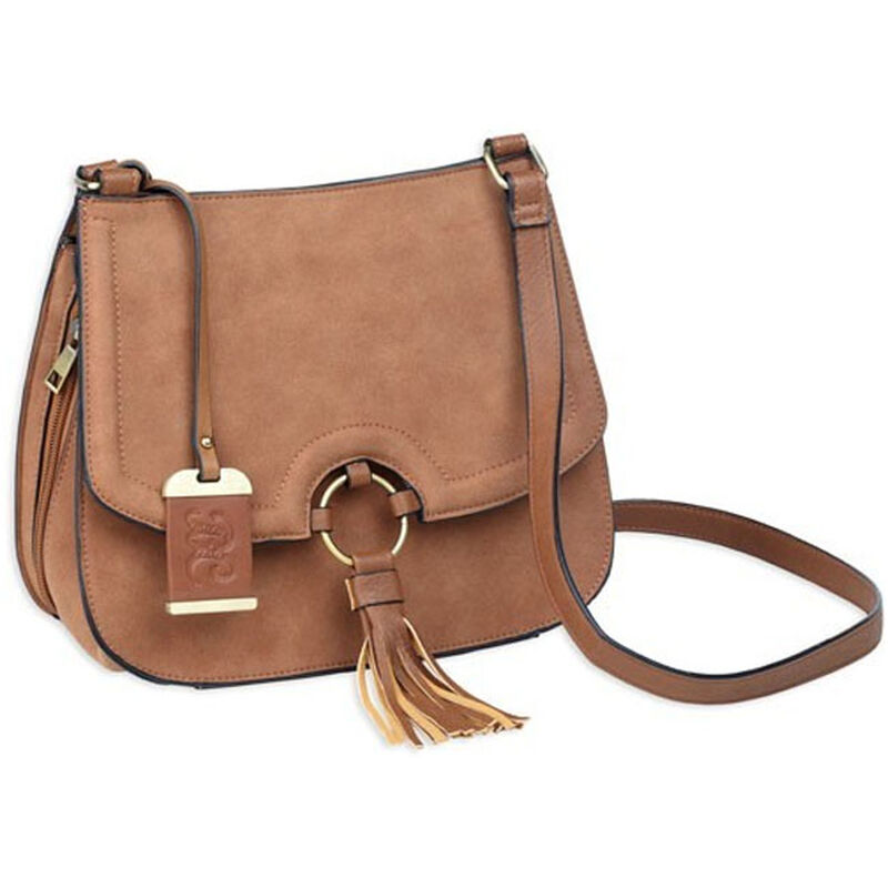 Bulldog Cases The Sophisticated Cross Body Purse in Camel Color with Concealed Holster