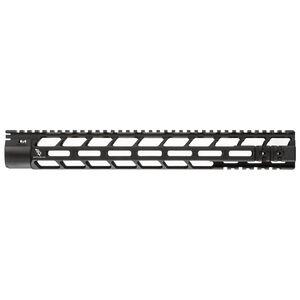 "Bootleg PicLok AR-15 15"" One Piece Free Float Hand Guard Full Length Mil-Spec Picatinny Top Rail 6061 Aluminum Hard Coat Anodized Matte Black Finish"