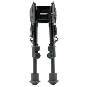 "GSM Outdoor/SME 6"" to 9"" Extendable Bipod Sling Swivel Stud/Weaver/Picatinny Mount Rubber Shoes 6061-T6 Aluminum Matte Black Finish"