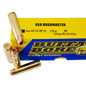 Buffalo Bore .450 Bushmaster Ammunition 20 Rounds JHP 250 Grains