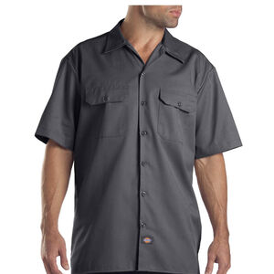 Dickies Men's Twill Work Shirt Extra Large Regular Charcoal 1574CH