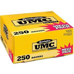 Remington UMC 9mm Luger Ammunition 250 Rounds 115 Grain Full Metal Jacket 1145fps Mega Value Pack