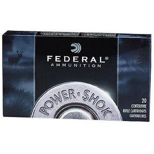 Ammo .30-06 Springfield Federal Power-Shok 220 Grain Hot-Cor SP Bullet 2410 fps 20 Rounds 3006HS