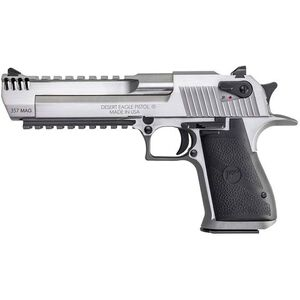 "Magnum Research Desert Eagle Mark XIX Semi Auto Pistol .357 Magnum 6"" Barrel 9 Rounds Fixed Combat Sights Weaver Accessory Rail/Picatinny Rail Natural SS Finish"