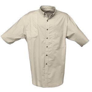 Browning Badger Creek Short Sleeve Shooting Shirt Woven Sand Small Size 3010344801