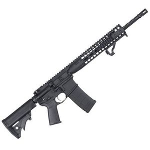 """LWRC AR-15 Semi Auto Rifle 5.56 NATO 16.1"""" Spiral Fluted Barrel 30 Rounds Free Float Rail System Collapsible Stock Black ICDIR5B18"""