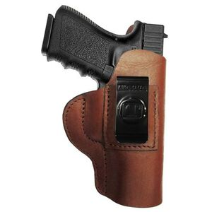 Tagua Gun Leather Super Soft Inside Waistband Holster For GLOCK 43 Leather Right Hand Brown SOFT-357
