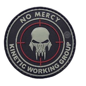 Tru-Spec PVC No Mercy Morale Patch 2 Inches Black/White 6787000